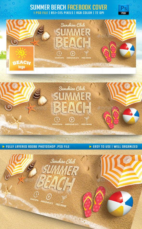 GraphicRiver Summer Beach Facebook Cover 11491659