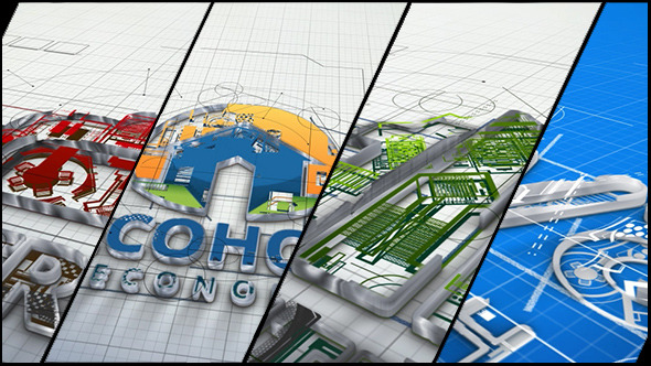 AE模板:优雅三维建筑蓝图 企业公司建设logo片头展示 电视栏目包装片头模板Architect and Architecture Company Logo