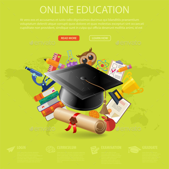 GraphicRiver Online Education Concept 11491975