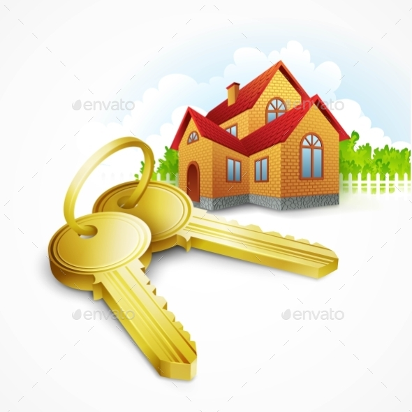 GraphicRiver Keys with House on Background 11491995