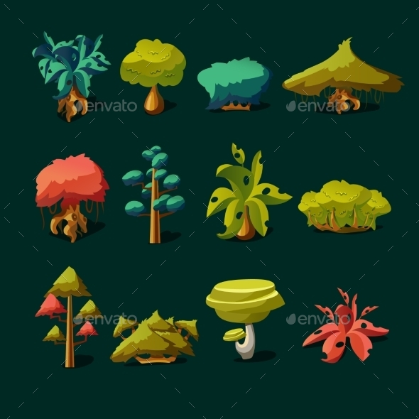 GraphicRiver Cartoon Nature Elements 11492059