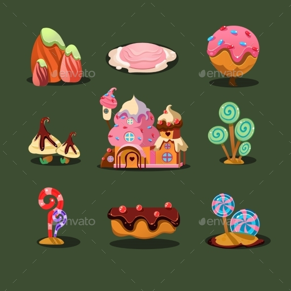 GraphicRiver House from Cookies and Candies 11492085