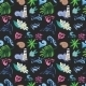 Tropical Vector Pattern On Black - GraphicRiver Item for Sale