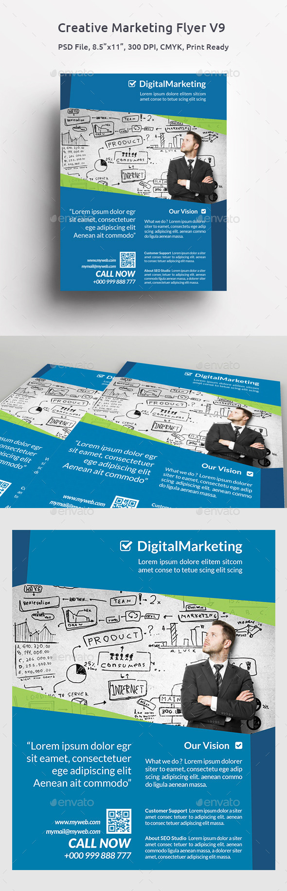 GraphicRiver Creative Marketing Flyer V9 11493065