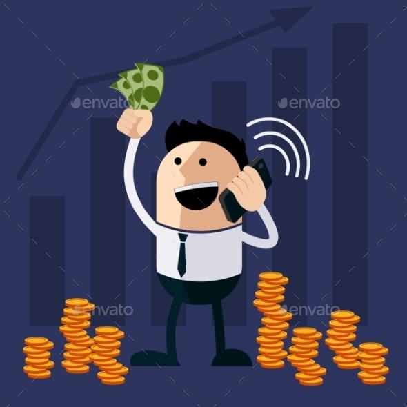 GraphicRiver Happy Man Holding Money 11493157