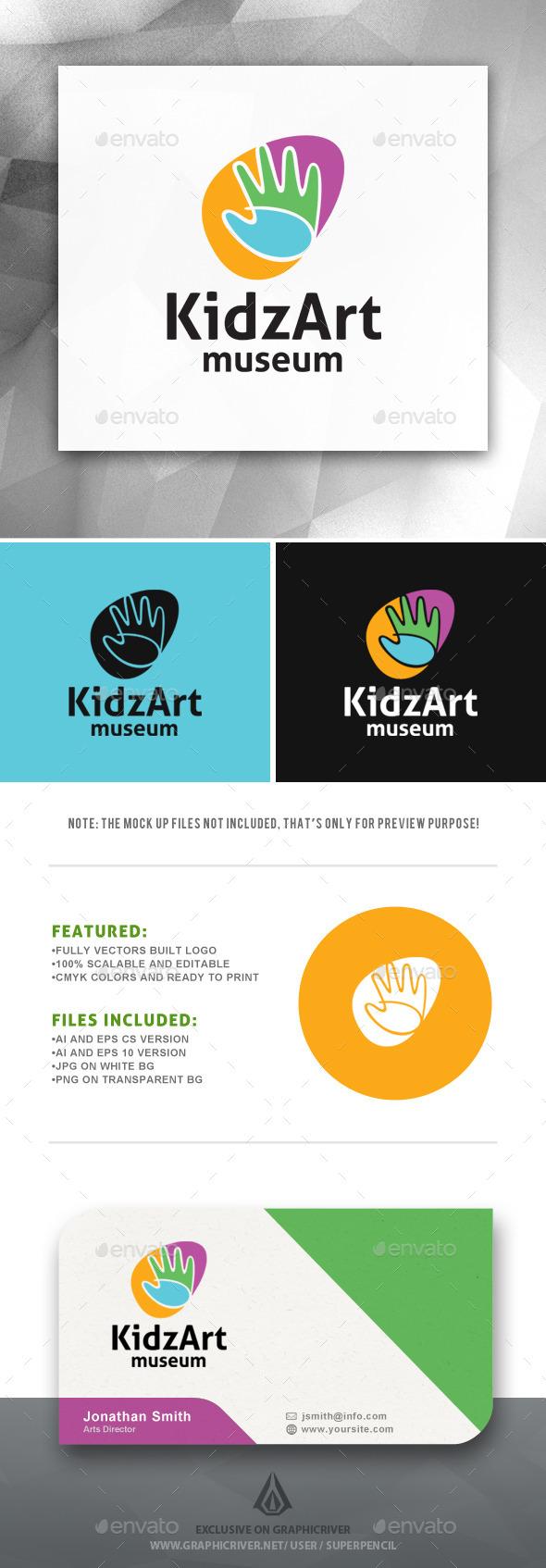 GraphicRiver KidzArt Museum Logo 11493277