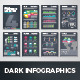 Dark Infographic Brochure Vector Elements Kit 4 - GraphicRiver Item for Sale