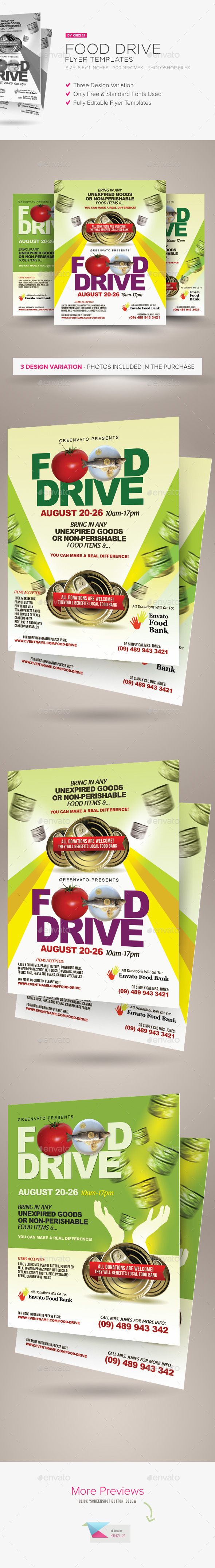 GraphicRiver Food Drive Flyer Templates 11493589