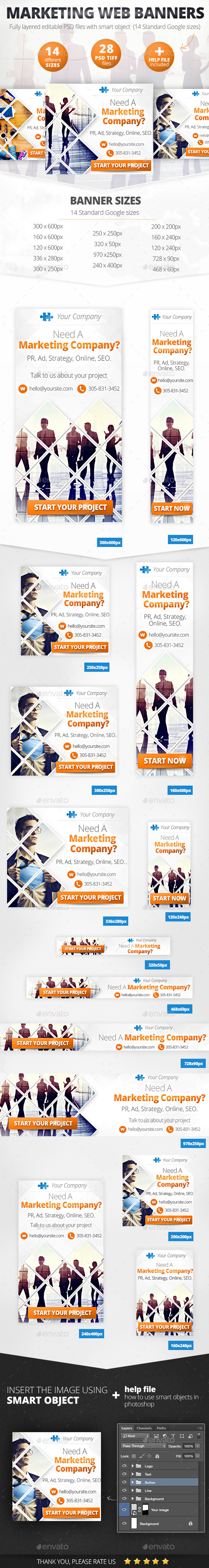 GraphicRiver Business Marketing Web Banner Set 11493629