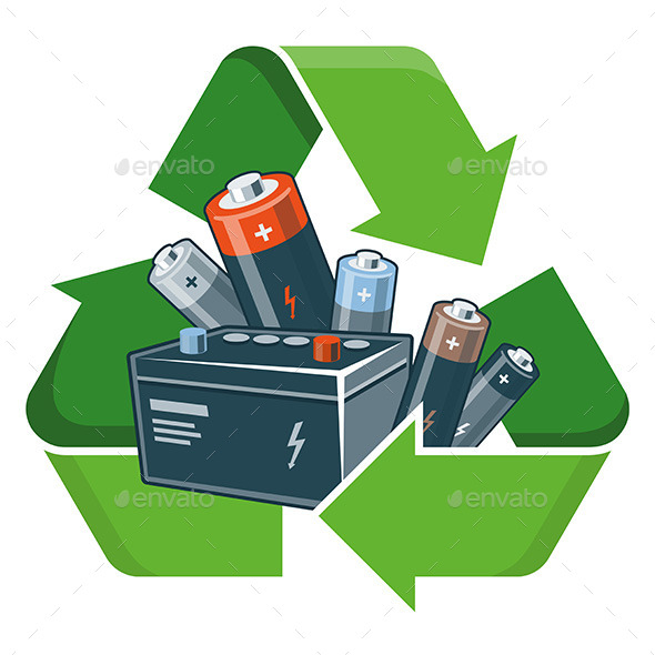 GraphicRiver Recycle Batteries 11493645