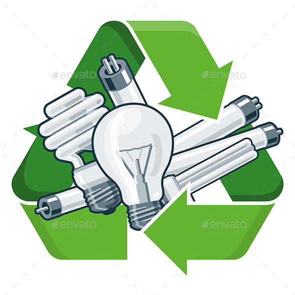 GraphicRiver Recycle Light Bulbs 11493653