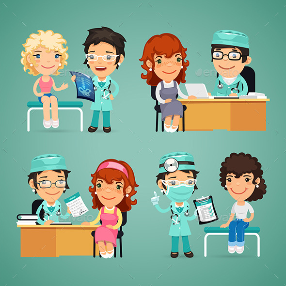 GraphicRiver Women Having Medical Consultation In Doctor s 11480979