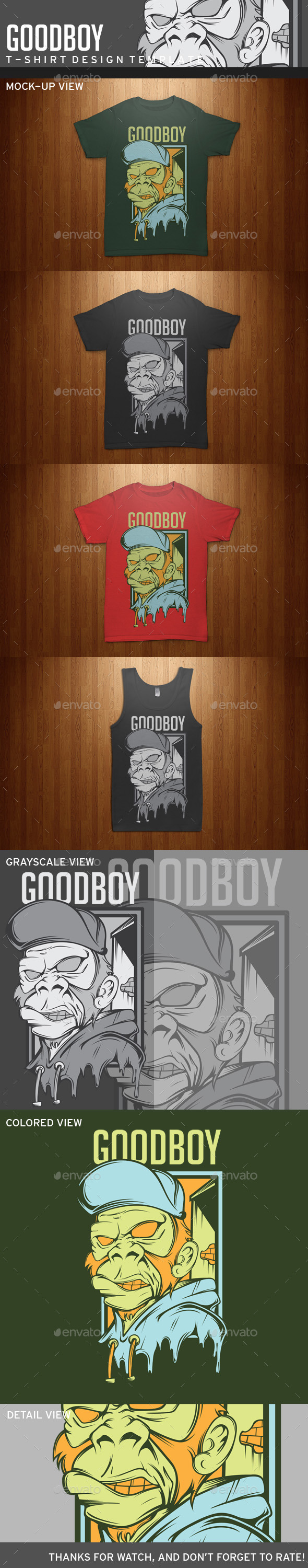 GraphicRiver Goodboy T-shirt Template 11493687