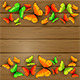 Colorful Butterflies on Wooden Background - GraphicRiver Item for Sale