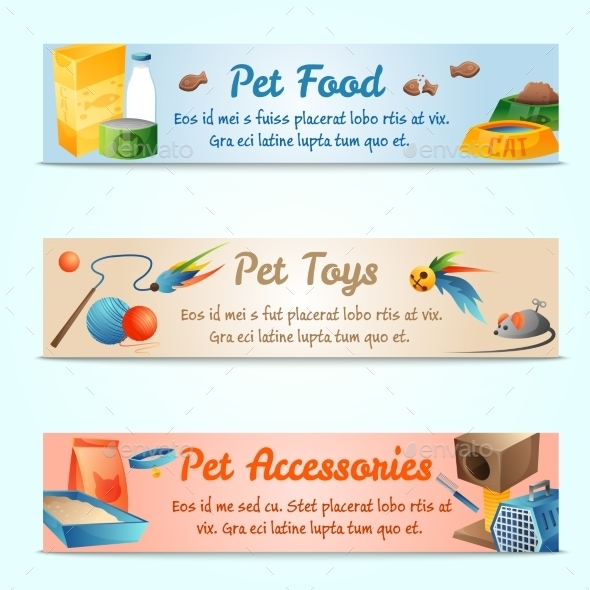 GraphicRiver Banners With Cat Stuff 11493893