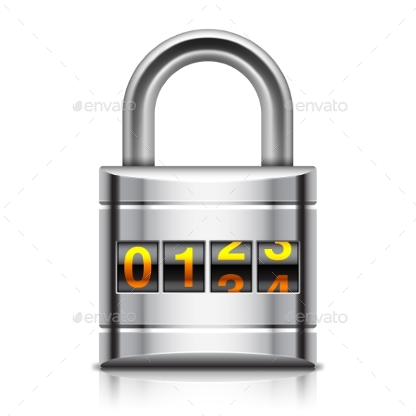 GraphicRiver Coded Padlock 11493925