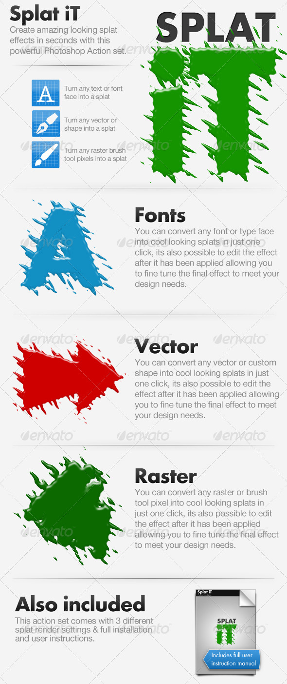 Splat iT - Give Your Work The Splat Effect! - Text Effects Actions