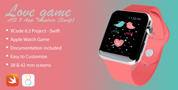 CodeCanyon Love Game Apple Watch app in Swift 11493981