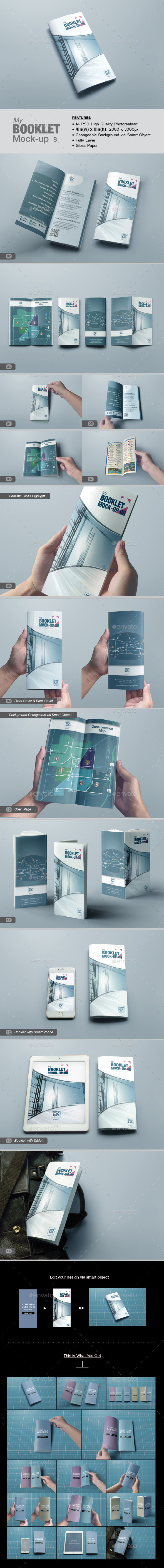 GraphicRiver myBooklet Mock-up 08 11494158