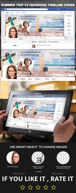 GraphicRiver Summer Trip v2 Facebook Timeline Cover 11494180