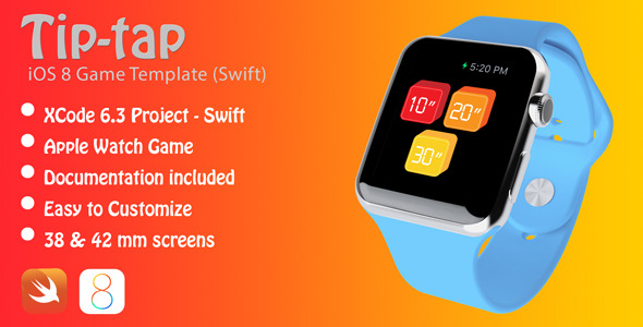 CodeCanyon TipTap Apple Watch Game in Swift 11494186