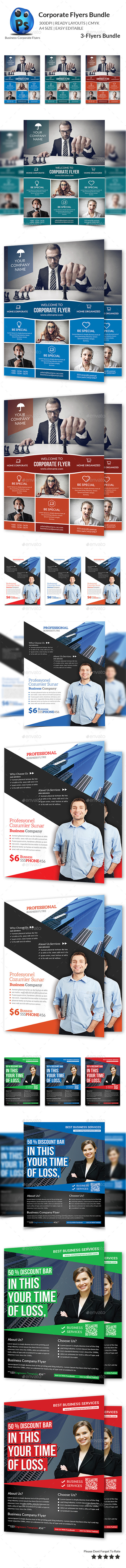 GraphicRiver Corporate Business Flyer Bundle 11494293