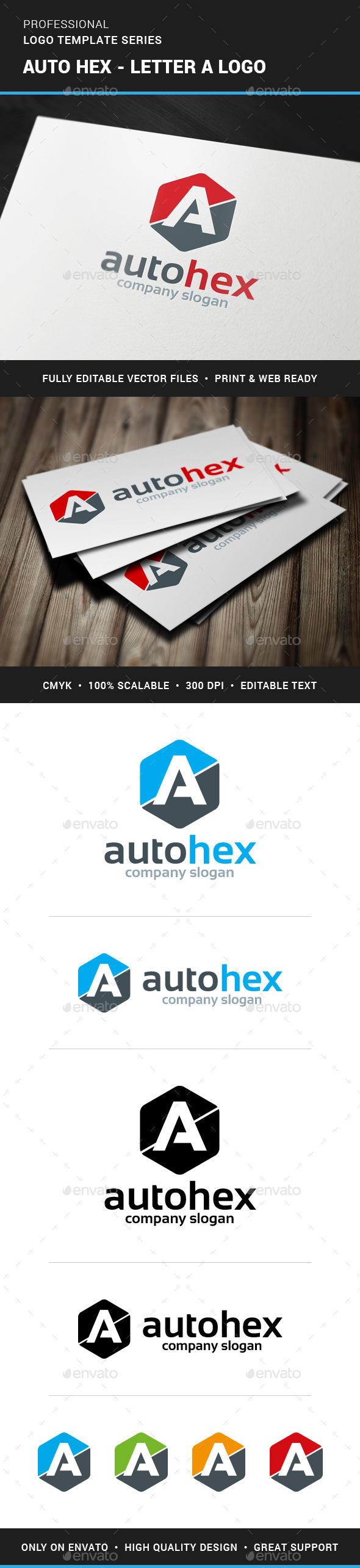 GraphicRiver Auto Hex Letter A Logo 11494323