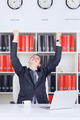 Young Businessman Triumph - PhotoDune Item for Sale