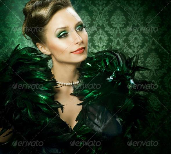 Beautiful Luxury Woman - Stock Photo - Images