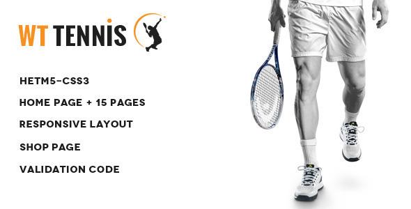 WT Tennis -  HTML Sports Template