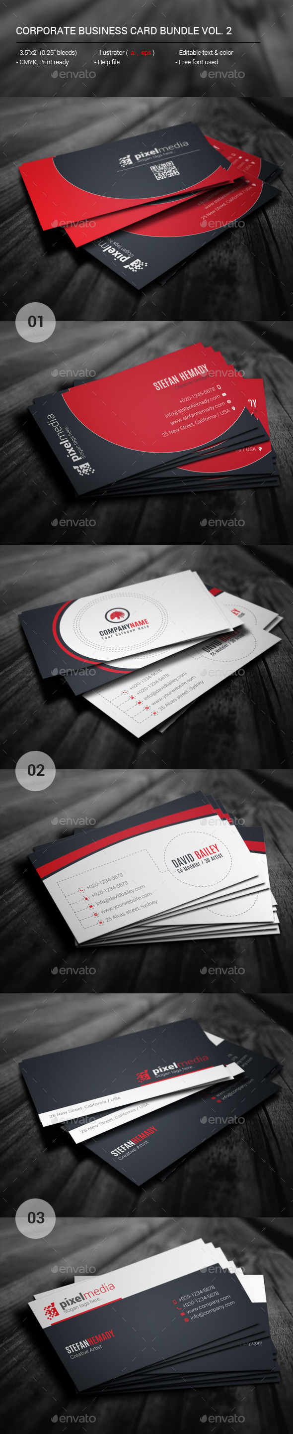 GraphicRiver Corporate Business Card Bundle Vol 2 11494674