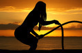 Woman Working Out At Beach - PhotoDune Item for Sale