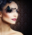 Beautiful Young Woman portrait. Vintage Styled - PhotoDune Item for Sale