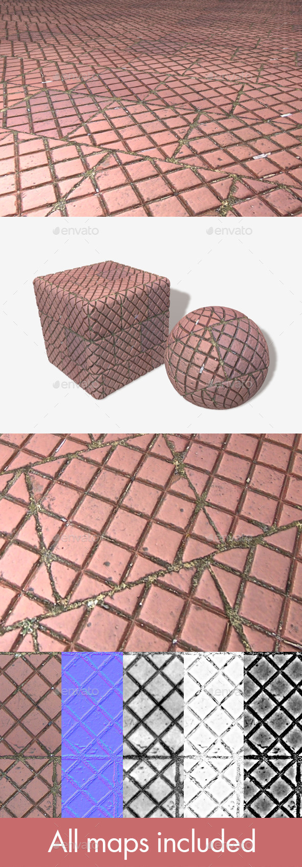 3DOcean Pavement Patterned Tile Seamless Texture 11494852