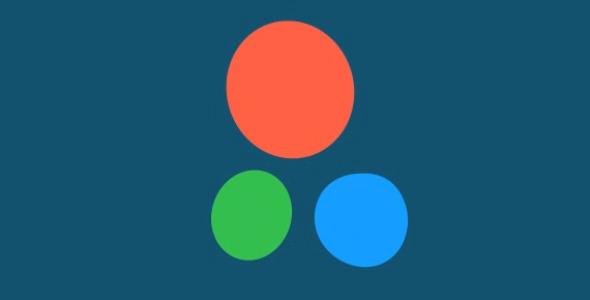 Three Circles Cartoon Logo Reveal