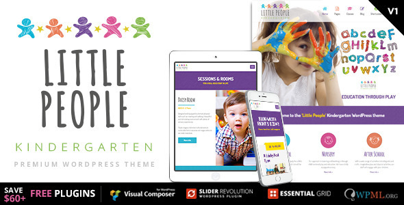 ThemeForest Little People Kindergarten wordpress theme 11494908