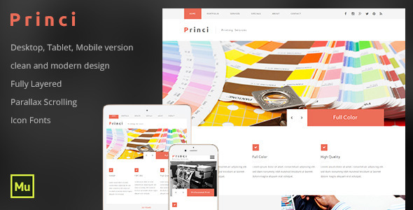 ThemeForest Princi Printing Services Web Template 11494913