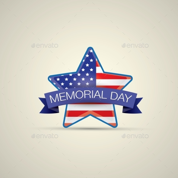 GraphicRiver Memorial Day with Star In National Flag Colors 11494919
