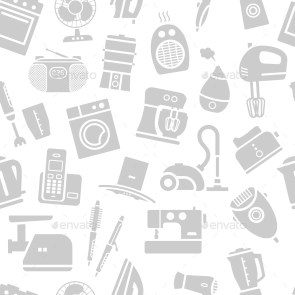GraphicRiver Seamless Pattern Of Home Appliances Icons 11494968