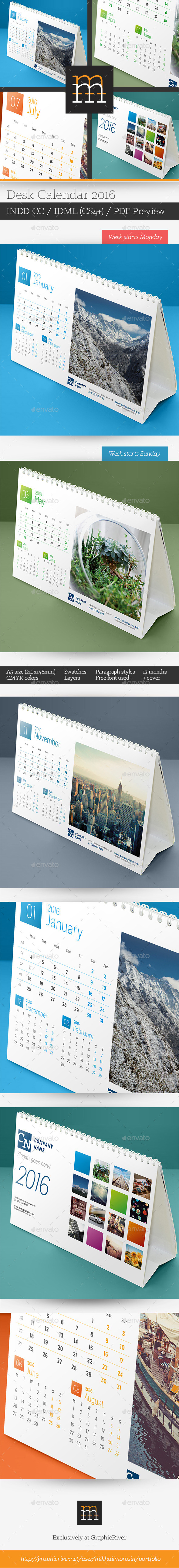 GraphicRiver Desk Calendar 2016 11408180