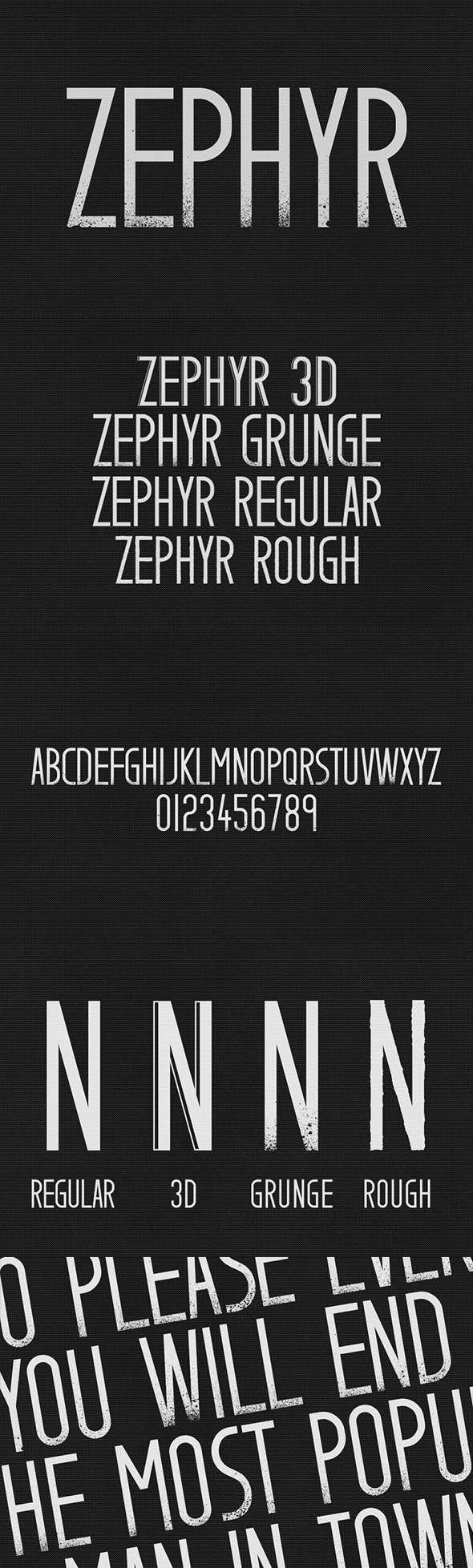 GraphicRiver Zephyr Typeface 11495152