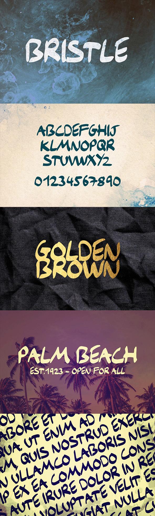 GraphicRiver Bristle Typeface 11495566