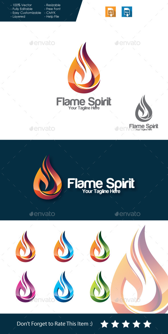 GraphicRiver Flame Spirit Logo 11495901