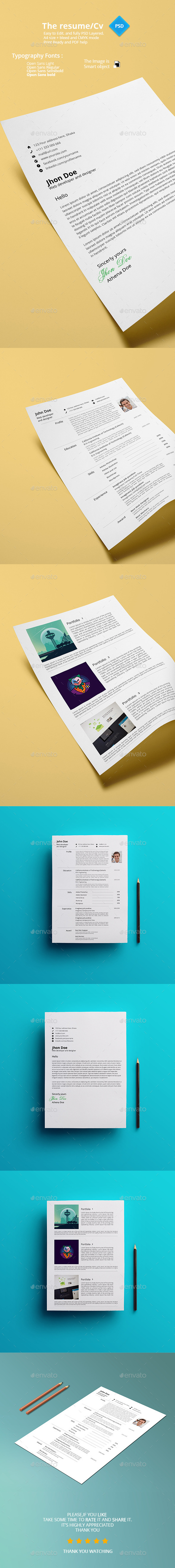 GraphicRiver The Resume 11425398