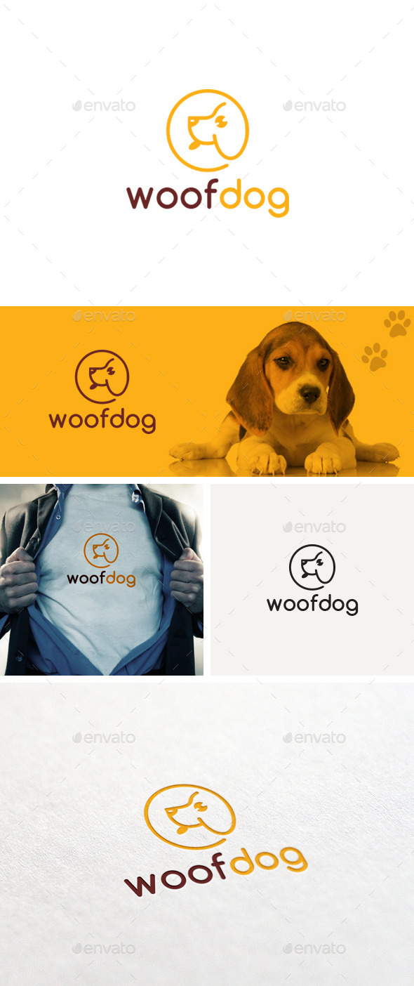 GraphicRiver Woof Dog Logo Template 11496410