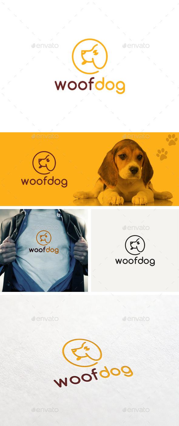 Woof Dog Logo Template