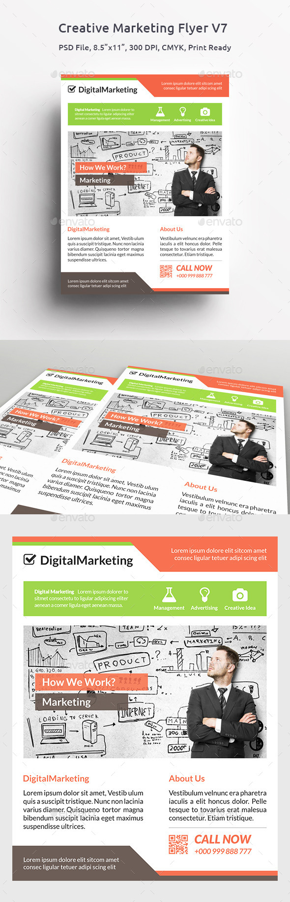 GraphicRiver Creative Marketing Flyer V7 11496790
