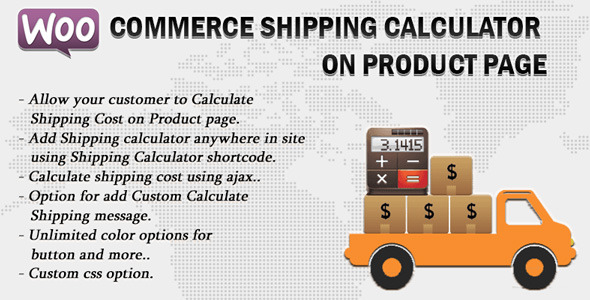 CodeCanyon Woocommerce Shipping Calculator On Product Page 11496815