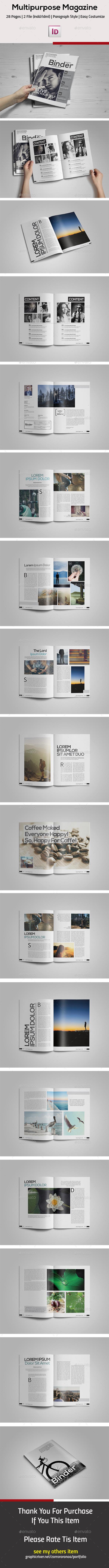 GraphicRiver Clean Magazine Template 11395198