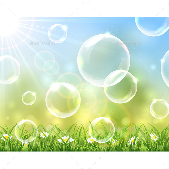 GraphicRiver Sunny Background with Bubbles 11497060